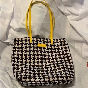 Vera Bradley black & white tote with wallet